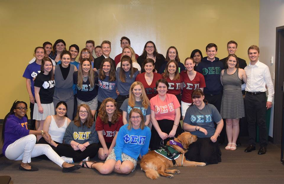 Beamer with Members from the Beta Rho Chapter