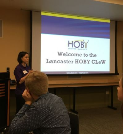 Danielle Reidenbach leading HOBY CLeW
