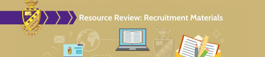 Resource Review: Recruitment Materials